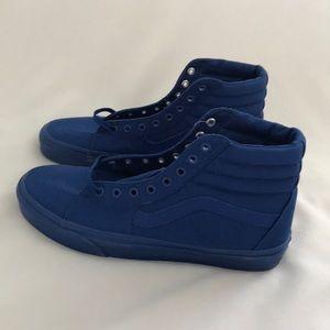 db93718aae24 Vans Shoes - Vans true blue hi top sk8 mono canvas men new